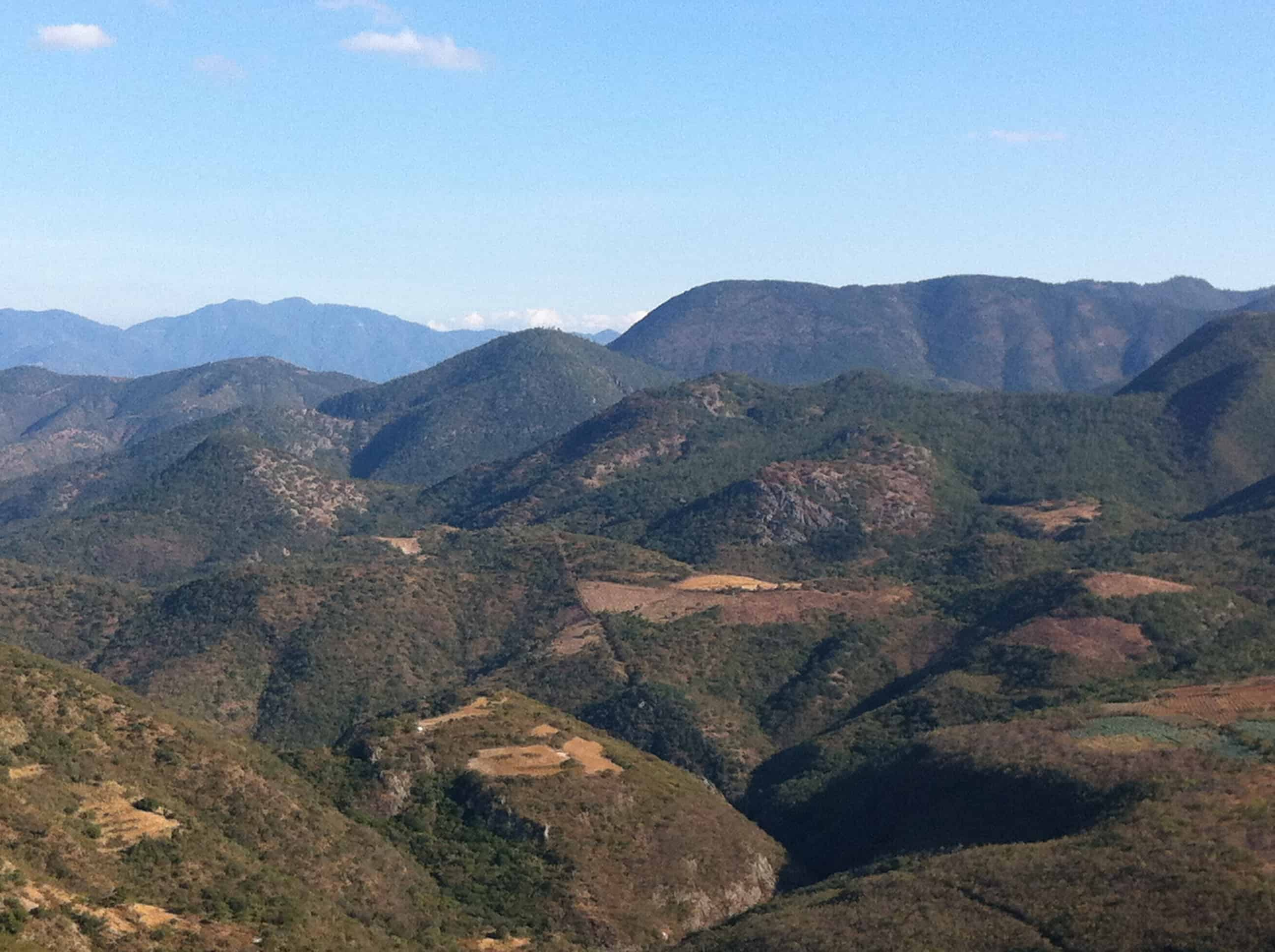 The view from Hierve el Agua