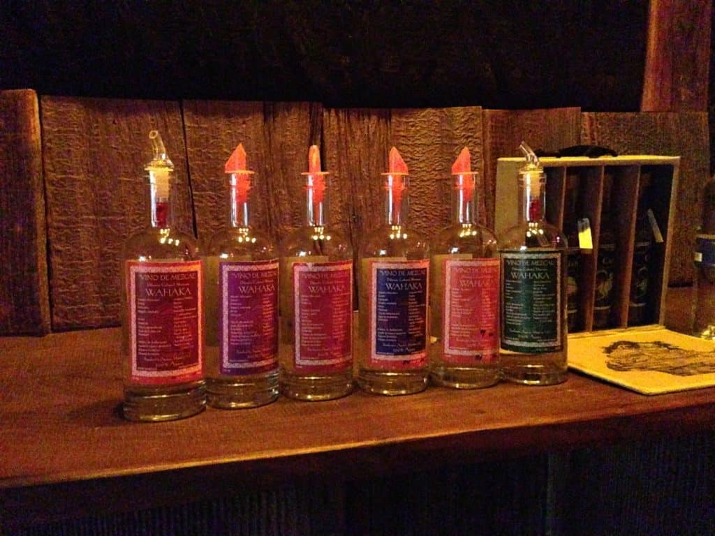 The full Vino de Mezcal lineup.
