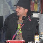 DJ Ricardo Ibarra of Radio Indigena spinning tunes