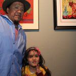 Artist Calixto Robles and his daughter
