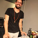 Lolo bartender David Gallardo demonstrates why he's such a popular figure. Photo by Michael Skrzypek