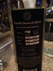 Raicilla Venenosa Sierra de Jalisco