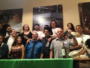 A group photo of all the bar tenders, brand ambassadors, and related folks from Ruta del Mezcal II.