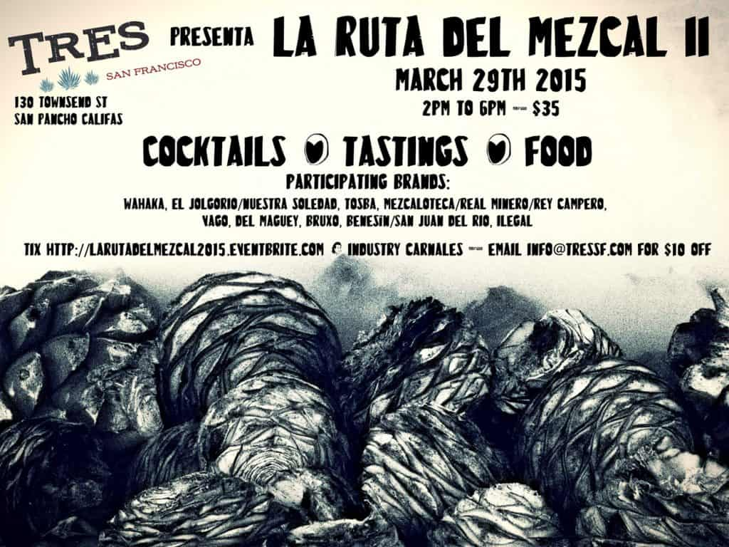 The flyer for La Ruta del Mezcal II.