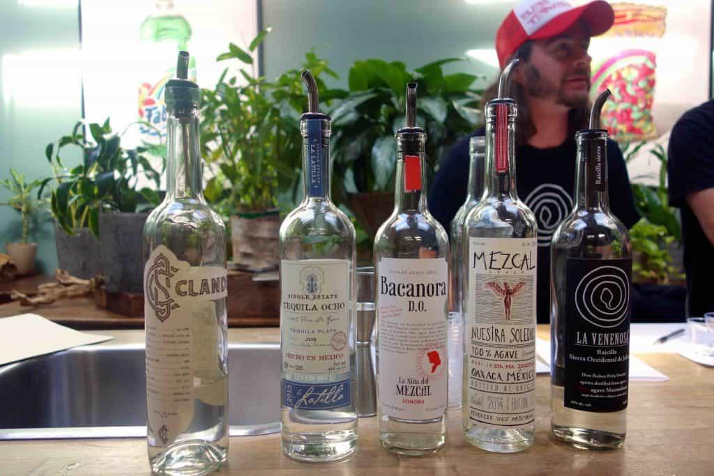 The bottles we tasted. Photo by Ferron Salniker.