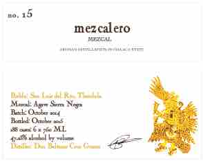 Mezcalero 15 label