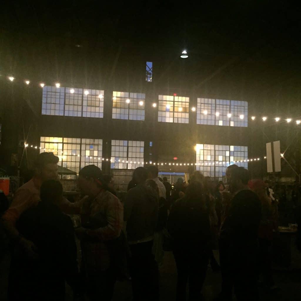 The scene at Pier 70
