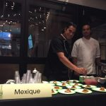 Chef Carlos Gaytan of Mexique dishing up his pulled pork