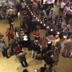 A view from above at Chop Shop as the event gets underway