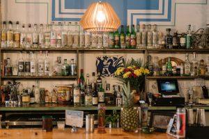 The bar at La Loba Cantina, Brooklyn.