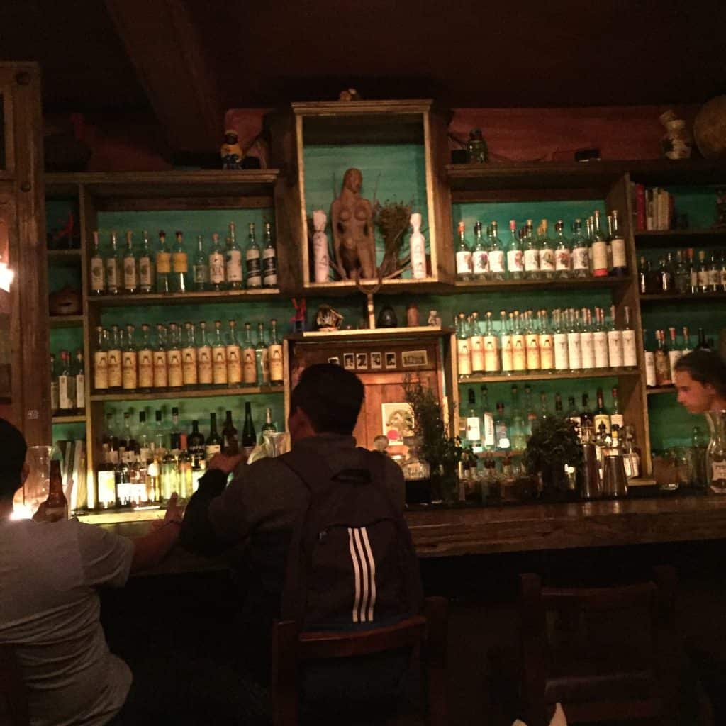 The bar at Mezcalogia