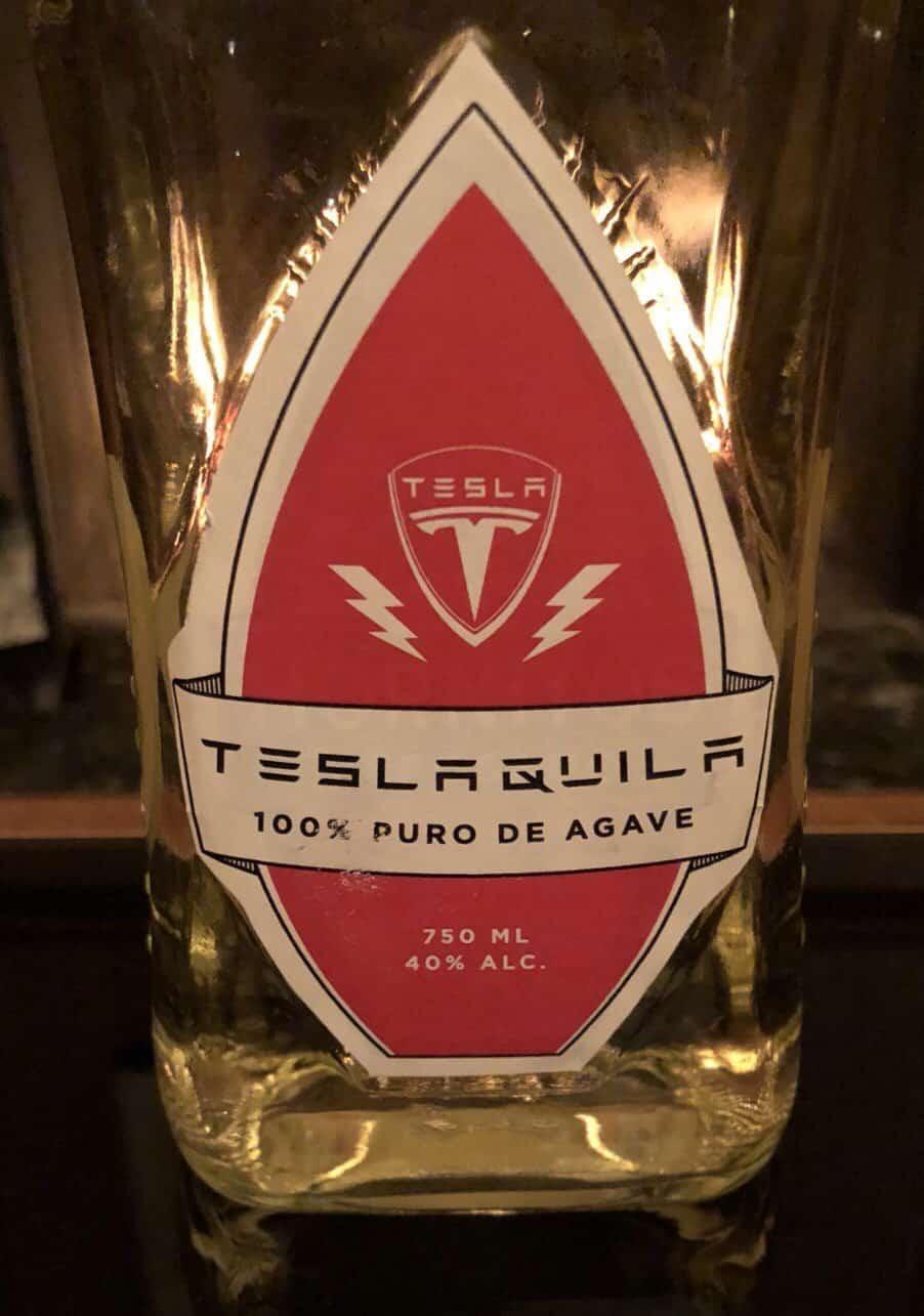 Teslaquila bottle
