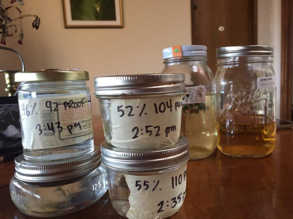 Home distilled agave
