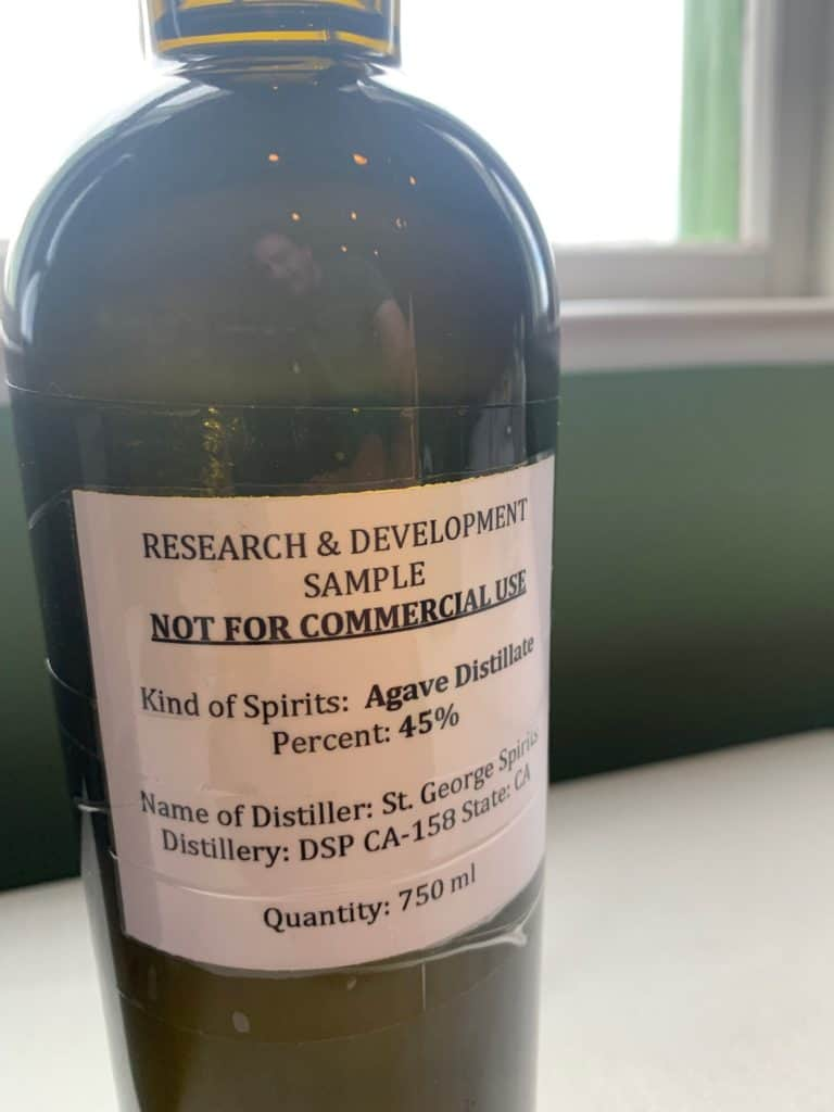 St. George spirits' first agave distillate
