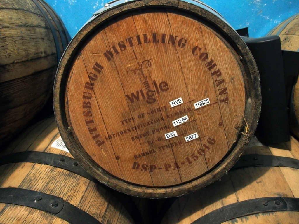 Wigle Rye barrel
