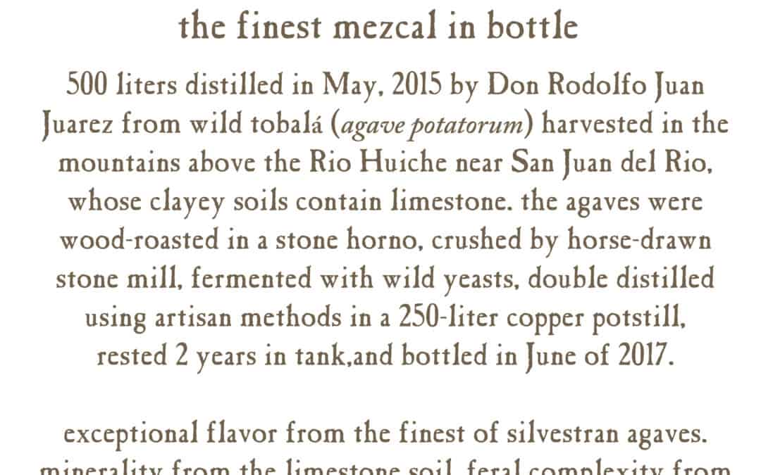 Mezcalero Special Bottling #3 tasting notes